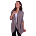 Simply Ravishing Women's Basic 3/4 Sleeve Open Cardigan (Size: Small-5X) - Thumbnail 13
