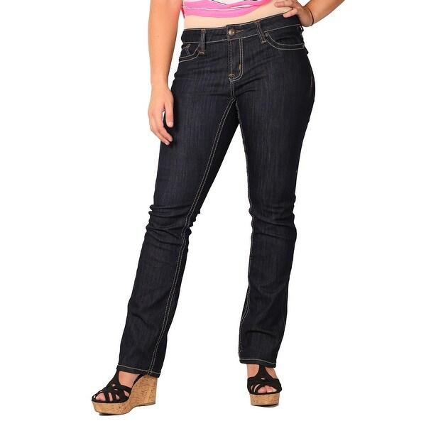Zana-Di Womens Junior Plus Fashion Jeans, Dark Indigo Rinse
