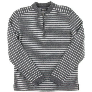 Nautica Mens Striped 1/4 Zip Casual Shirt