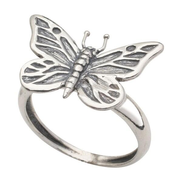 Women's Sterling Butterfly Ring - Silver - Cast Butterfly Jewelry