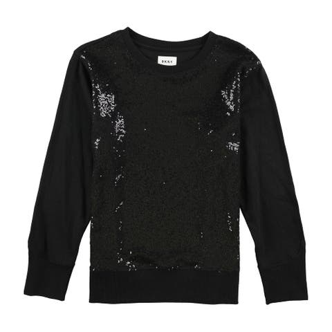 Dkny Womens Sequined Sweatshirt