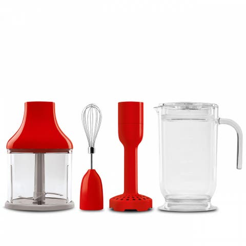 Smeg 50's Retro Style Aesthetic Hand Blender Accessory Kit Red
