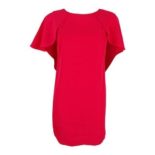Calvin Klein Women's Caplet Sleeves Shift Dress (6P, Lipstick) - Lipstick - 6P