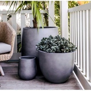 Link to DreamPatio Long Beach 1-Piece Fiberstone Planter Similar Items in Planter Pots