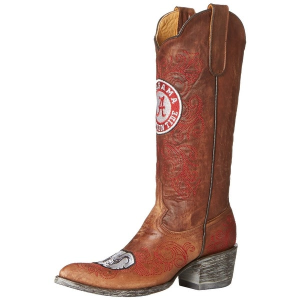 Gameday Boots Womens College Team Alabama Crimson Tide Brass