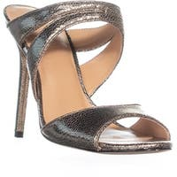 Halston Heritage Brittany Strappy Mule Sandals, Gold Cracked - 9 us