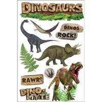 """Paper House 3D Stickers 4.5""""x8.5""""-Dinosaurs"""