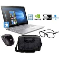 "HP Envy 17m Core i7-8550U 16GB 17.3"" FHD Touch WLED GeForce MX150 Laptop Bundle (Certified Refurbished)"
