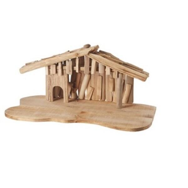 "24"" Wooden Religious Christmas Nativity Creche - brown"