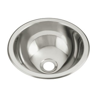 "Sterling 1411-0 13.625"" Single Basin Drop In or Undermount Stainless Steel Bar Sink with SilentShield"
