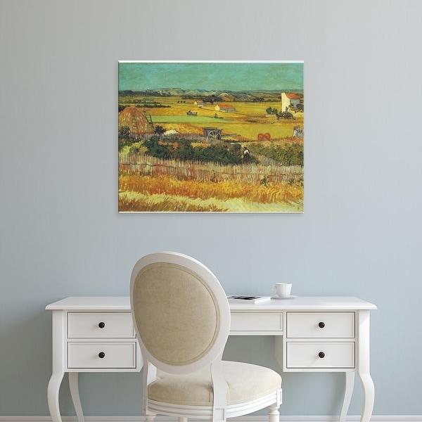 Easy Art Prints Vincent Van Gogh's 'Harvest at La Crau' Premium Canvas Art