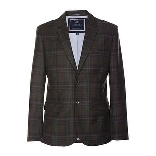 Tommy Hilfiger Moon Graham Sportcoat 40 Regular 40R Chocolate Brown Plaid