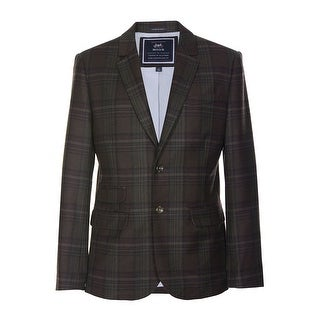 Tommy Hilfiger Moon Graham Sportcoat 46 Regular 46R Brown Plaid 2 Buttons