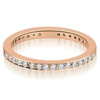 1.50 ct.tw 14K Rose Gold Round Cut Diamond Anniversary Eternity Ring HI,SI1-2