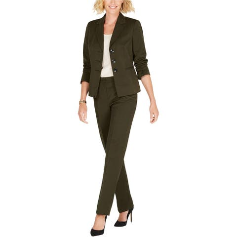 Le Suit Womens Striped Pant Suit