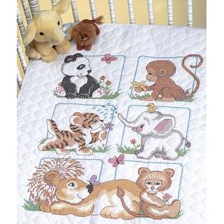 Animal Babies Quilt Stamped Cross Stitch Kit