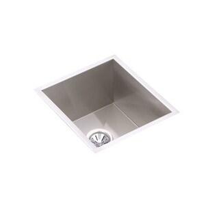 "Elkay EFU131610DBG Crosstown 16"" Single Basin 16-Gauge Stainless Steel Kitchen Sink for Undermount Installations - Basin Rack"