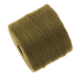 BeadSmith Super-Lon (S-Lon) Cord - Size 18 Twisted Nylon - Bronze (77 Yard Spool)