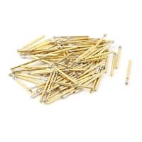 Unique Bargains 100 Pcs P75-Q2 1.3mm 4-Point Crown Tip 16.5mm Length Spring Test Probes Pin