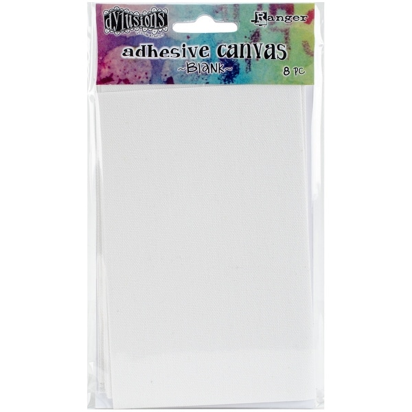 """Dyan Reaveley's Dylusions Adhesive Canvas 3.375""""X5.25"""" 8/Pkg-Blank"""
