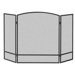 """Panacea 15951 Arched Fireplace Screen With Bar, 30"""" H x 48"""" W"""