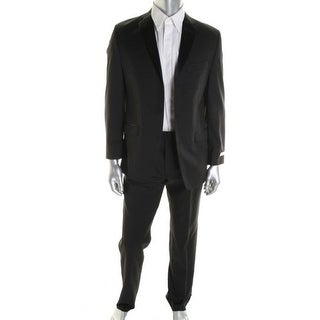 Calvin Klein Mens Wool Satin-Trim Tuxedo