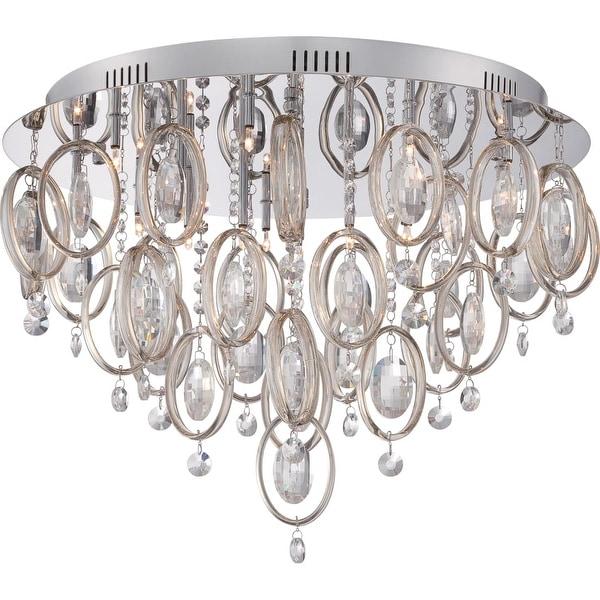 Platinum PCEL1623 Ella 18 Light Flush Mount Ceiling Fixture - Polished chrome