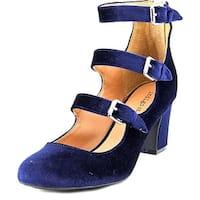 Indigo Rd. Ellie Women  Round Toe Canvas Blue Heels