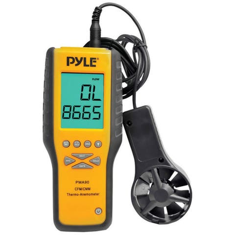 Pyle pma90 pyle anemometer and thermometer for air velocity air flow temperature