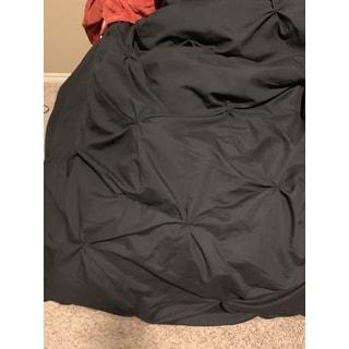 BYB Black Pin Tuck Comforter Set