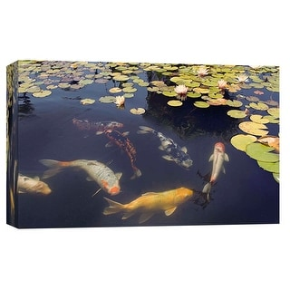 """PTM Images 9-101990  PTM Canvas Collection 8"""" x 10"""" - """"Ca Missions 7"""" Giclee Koi Art Print on Canvas"""