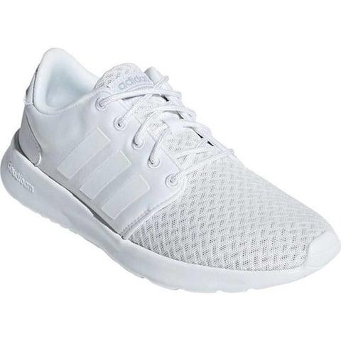 adidas Women's Cloudfoam QT Racer Geometric Sneaker FTWR White/FTWR White/Grey Two F17