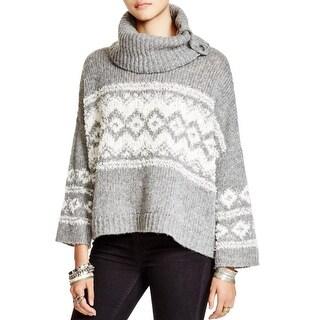 Free People Womens Fairisle Ragnar Sweater Printed Pullover