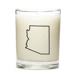 Custom Candles with the Map Outline Arizona, Peach Belini
