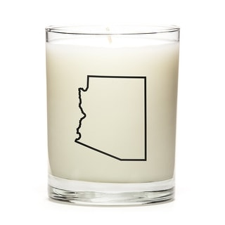 State Outline Candle, Premium Soy Wax, Arizona, Fine Bourbon