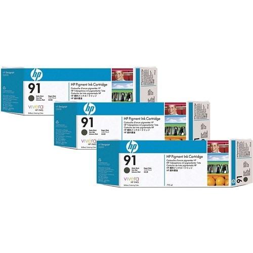 HP 91 775 Ml 3 Matte Black DesignJet Pigment Ink Cartridges C9480A