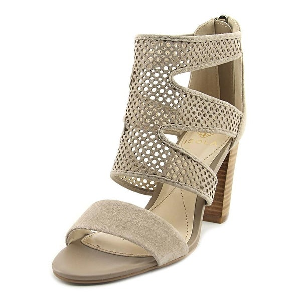 Isola Kaley Women Open Toe Suede Nude Sandals