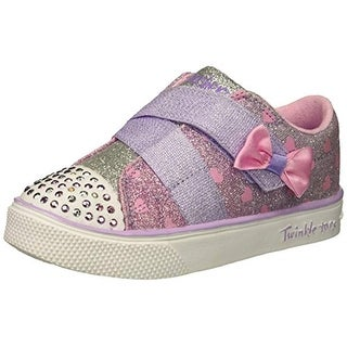 Skechers Kids Girls' Twinkle Breeze 2.0-Sparkle-Z Sneaker, Lavender/Multi, 5 Medium Us Toddler