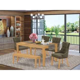 Link to Square Table and Parson Chairs in Dark Coffee Linen Fabric (Number of Chairs Option) Similar Items in Dining Room & Bar Furniture