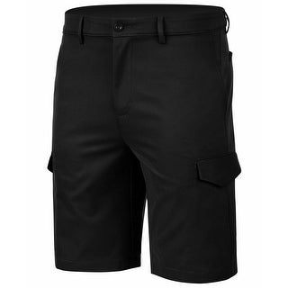 Link to Greg Norman Mens Shorts Black Size 32 Performance Stretch RapiDry Cargo Similar Items in Big & Tall