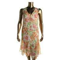 Lauren Ralph Lauren Womens Casual Dress Floral Surplice
