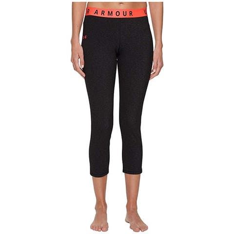 Under Armour Women's Favorites French Terry Cropped Leggings, (Black Large)