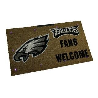 NFL Philadelphia Eagles LED Light Up Sports Team Coir Doormat 28 x 16 inch - Brown