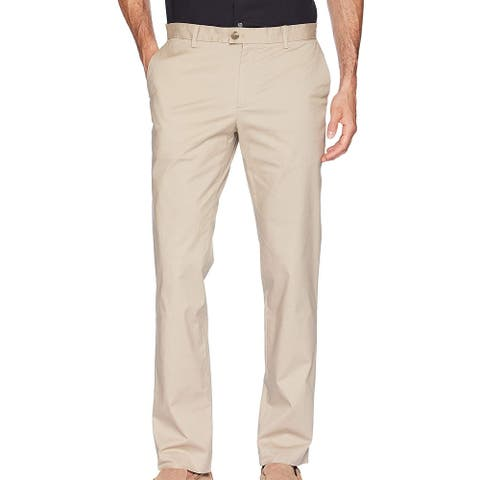 Calvin Klein Mens Chino Pants Beige Size 38x30 Slim Fit Refined Stretch