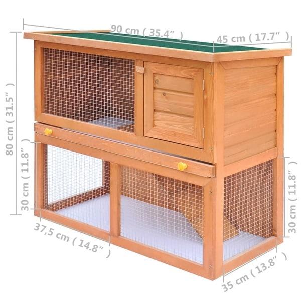 vidaXL Outdoor Rabbit Hutch Small Animal House Pet Cage 1 Door Wood