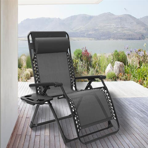Outdoor Patio Folding Zero Gravity Lounge Chair