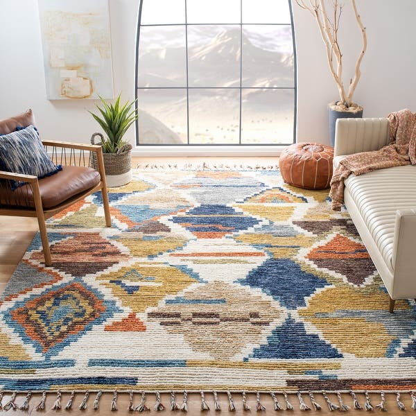 Safavieh Hand Knotted Kenya Azul Southwestern Tribal Wool Rug On Sale Overstock 15189703