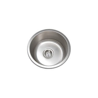 """PROFLO PFUC405A 16-5/16"""" Single Basin Undermount Stainless Steel Sink - STAINLESS STEEL - n/a"""