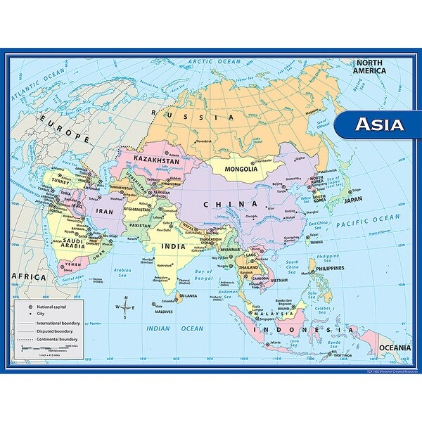 Map Of Asia Today.12 Ea Asia Map Chart 17x22