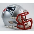 New England Patriots Riddell Speed Mini Football Helmet - Thumbnail 0